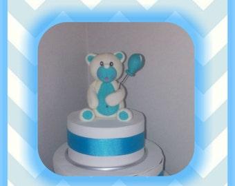 Boy Teddy Bear Edible Cake Topper