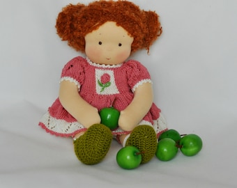 "Textile Waldorf baby doll for kids Zhenya 11,81"" (30 cm) MADE TO ORDER"