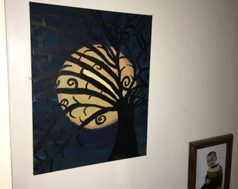 A unique painting. Genuine canvas  art from deep within