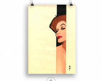 Fashion illustration for Dior, Rene Gruau, Fashion Illustration, Fashion Wall Art, Fashion Wall Decor, PP122