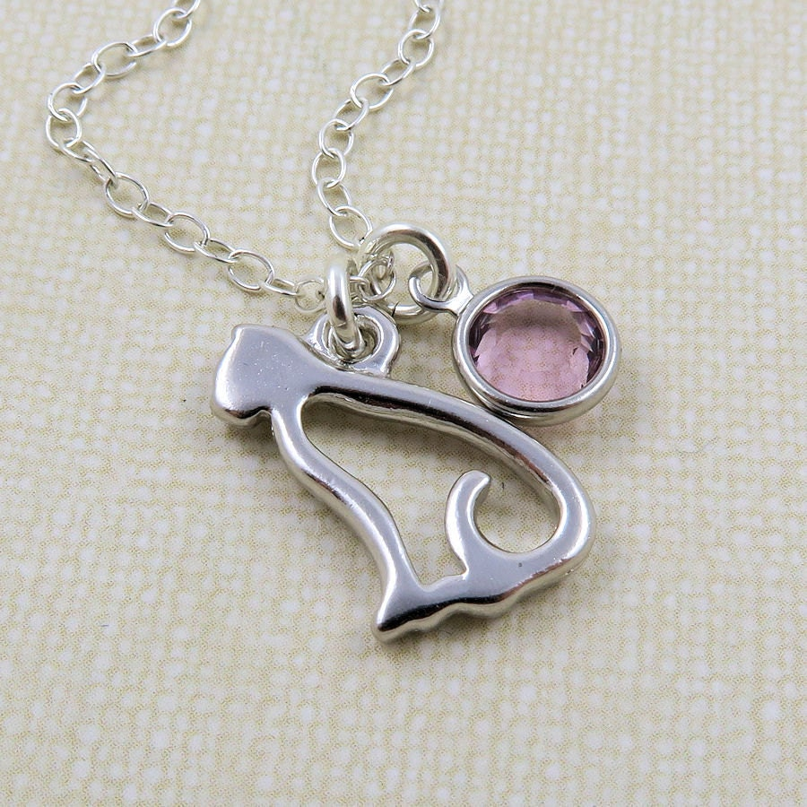 fc899b9e7b23d2 ... Silver Cat Jewelry: Silver Cat Necklace Cat Lovers Necklace Pet Necklace