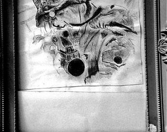Framed Black and white portrait