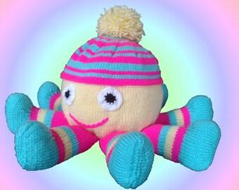 Octopus Knitting Pattern, Octopus Knit Pattern, Soft Toy Knitting Pattern, Marine Knit, Ocean Knit, Deep Sea Knit
