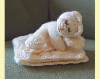 Bear Comforter Knitting Pattern, Comforter Knit Pattern