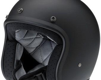 Biltwell Bonanza 3/4 Helmet -Flat Black -Size: L