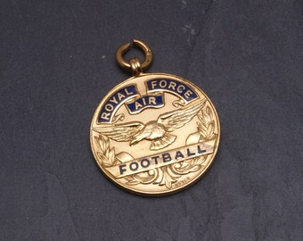 Vintage RAF, 9ct gold Football medal