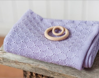 Lilac merino wool knit baby blanket, Baby shower gift, Baby blankets, Girl blanket, Knitted baby blanket, Merino blanket