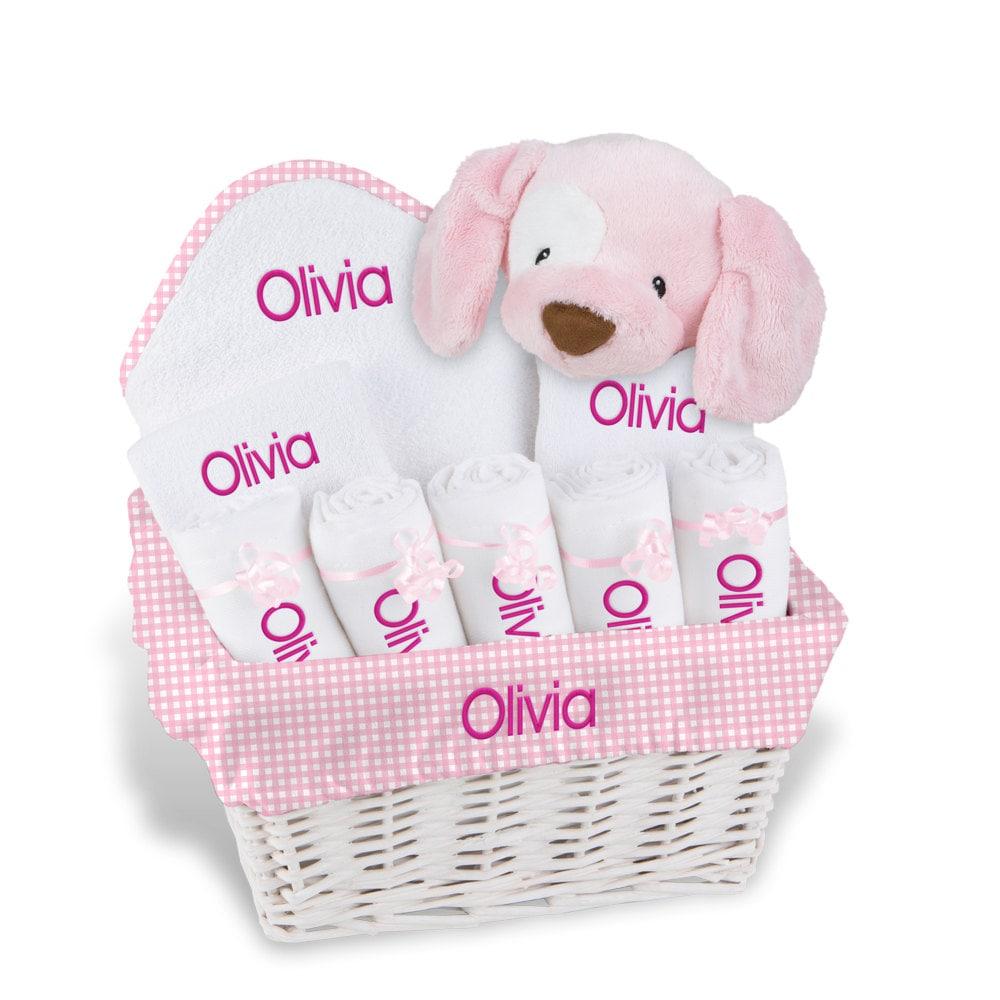 Personalized Baby Gift Basket Baby Girl Gift Basket 2 Bibs