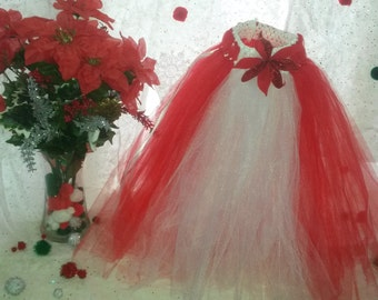 Point to the Red and White Tutu skirt 12m-4t