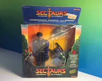 COLECO SECTAURS WASPAX with Wingid flying wasp Moc nib original box sealed unopened 1984 vintage toy commander insect warriors Symbion rare