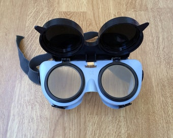 Vintage welding goggles Protection glasses Industrial glasses Safety glasses Halloween glasses Steampunk