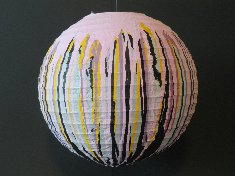 Custom paint drip paper lantern - Paper lantern paint color ...