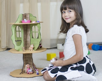 """Wooden dolls house handmade - """"Fairy tree"""" - may be the best gift for little girl."""