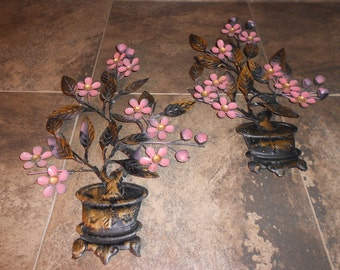 Hanging Wall Art Flowers and Pots Set of 2!!