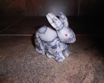 Vintage  Onyx Rabbit Figurine