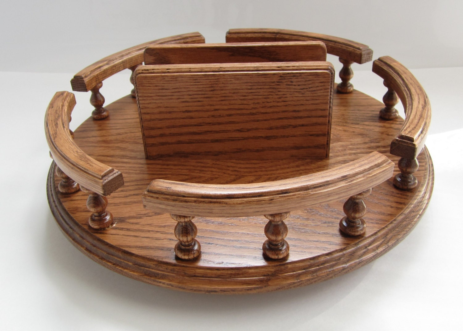 amish handcrafted 14 lazy susan turntable by