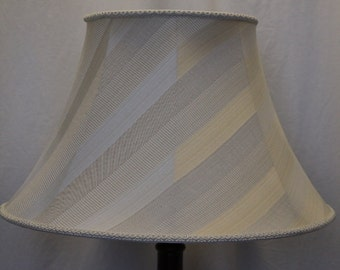 Round Empire lamp shade striped large small beige cream