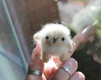 Small Handmade Wool Lamb