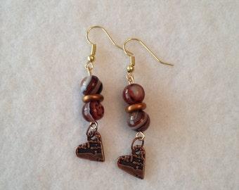 Shades of brown earrings