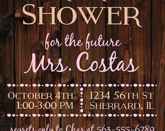 Succulent Bridal Shower Invitation