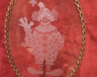 Stained - Suncatcher Glass with Clown