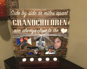 Grandchildren Photo Pallet Sign