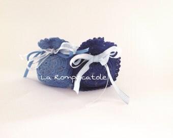 Handmade crochet round bag wedding favor