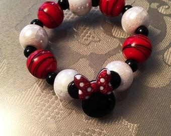 SALE!!  Minnie Mouse chunky bracelet