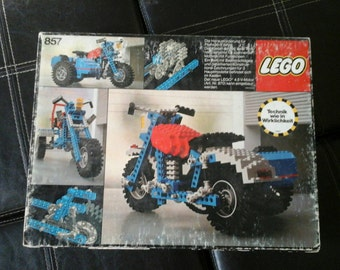 German LEGO Set #857 Motorcycle with Sidecar