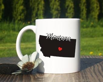Montana mug-Montana coffee mug-Hometown-Montana state mug-Home state mug-Adoption gift-University of Montana-Long distance gift-Birthday