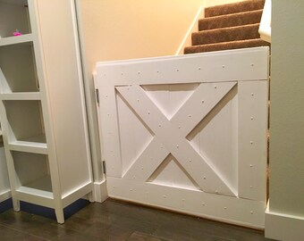 Items Similar To Custom Wood Barn Door Baby Gate On Etsy