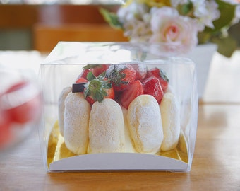 5 mini clear boxes mini cake box clear box small clear box & 50 mini clear box trays with lids mochi boxes rice cake Aboutintivar.Com