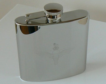 Parachute Regiment stainless steel Hip Flask