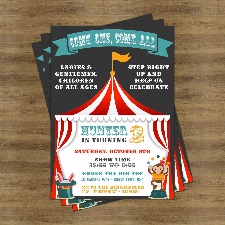 carnival invitation carnival birthday invitation carnival