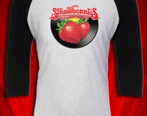 Strawberries Records & Tapes Vintage tee Peaches