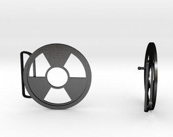 Radioactive Belt Buckle | 3D Printed Steel Belt Clasp