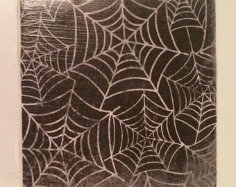 Spider Web Tile/Spider Web Decorative Tile/Spider Web Coaster/Spider Web/Tile/Coaster/Patterned Tile/Patterned Coaster/Halloween