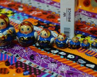 New Matryoshka Babushka Russian nesting dolls, handmade, 10 pcs, 2 inches