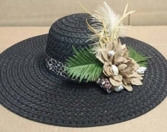 Black Beach Hat