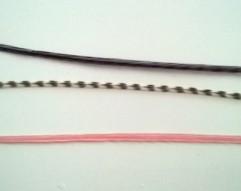 Feather Hair Extensions * Pink Panda * Threading tool & beads included
