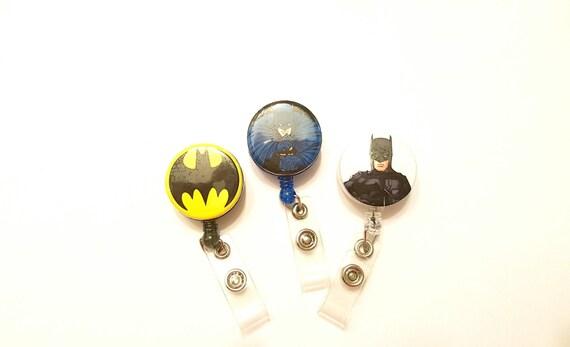 Batman, batman badge reel, Mens gift, boy's birthday, dc comic, retractable badge , badge holder