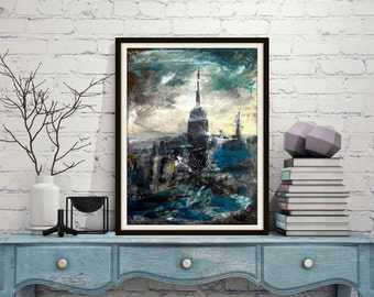 Abstract Paintings of New York City Prints