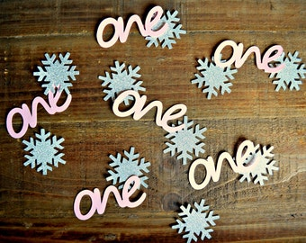 Winter Onederland Confetti. Winter Wonderland Confetti. Frozen Inspired Table Decor. Winter Onederland Decor. Winter Wonderland Decor.