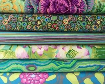 Bundle of Kaffe Fassett Collective Fabrics -  6 fabrics - Kaffe Fassett Collective Green Bundle