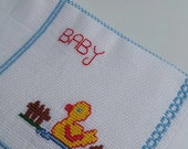 Baby boy/girl burp cloth,100% Cotton,traditional diapers,Shower Gift,needlework,stroller blanket,Bath and Beauty,Baby and Child Care,Burping