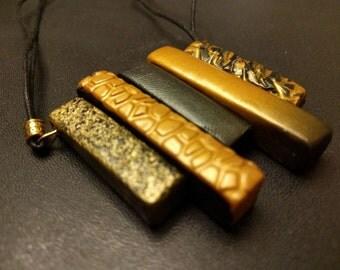 Modern black necklace, Black statement pendant necklace, Polymer clay black pendant, Contemporary jewelry, Big designer pendant