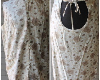 1960s Vintage Maternity Floral Skirt and Blouse -  60s Helene Scott - Adjustable - Size Small, Medium, S, M, Maternity