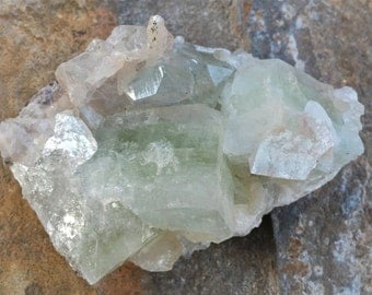 Apophyllite w/Stillbite, India