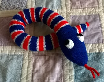 The Great British Snake Off - Hand knitted collectable wool animal