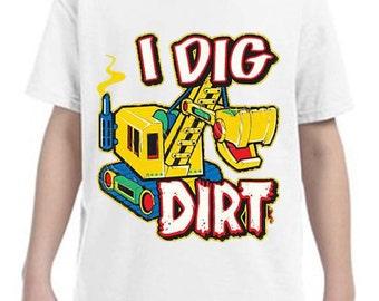 I Dig Dirt Kids T-shirt